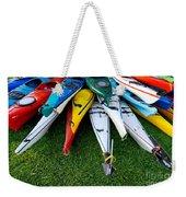 A Stack Of Kayaks Weekender Tote Bag
