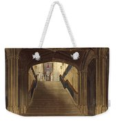 A Staircase, Windsor Castle, From Royal Weekender Tote Bag