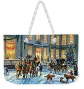 A Stately Christmas Weekender Tote Bag
