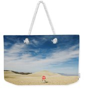 A Stop Sign In The Middle Of Nowhere Weekender Tote Bag