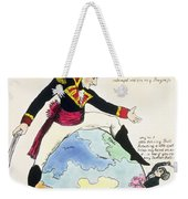A Stoppage To A Stride Over The Globe, 1803 Litho Weekender Tote Bag