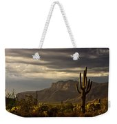 A Stormy Evening In The Superstitions  Weekender Tote Bag