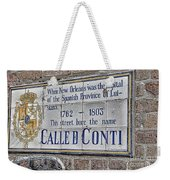 A Street Called Conti Weekender Tote Bag