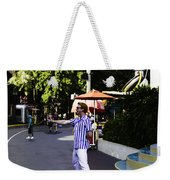 A Street Entertainer In The Hollywood Section Of The Universal Studios Weekender Tote Bag