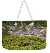 A Summer Day Camping At The Foot Of Mt Weekender Tote Bag