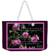 A Summer's Day Pink Romance Weekender Tote Bag