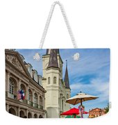 A Sunny Afternoon In Jackson Square Oil Weekender Tote Bag by Steve Harrington
