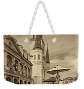 A Sunny Afternoon In Jackson Square Sepia Weekender Tote Bag