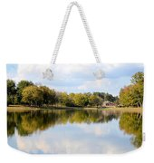 A Sunny Day's Reflections At The Lake House Weekender Tote Bag