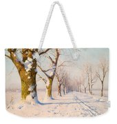 A Sunny Winter's Day Weekender Tote Bag