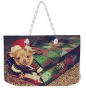A Sweet Christmas Surprise Weekender Tote Bag by Laurie Search