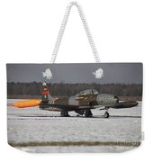 A T-33 Shooting Star Trainer Jet Weekender Tote Bag