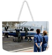A T-6 Texan Trainer Of The Hellenic Air Weekender Tote Bag