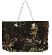 A T-rex Returns To His Kill And Finds Weekender Tote Bag