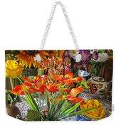 A Table Of Flowers Weekender Tote Bag
