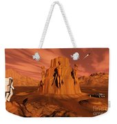 A Team Of Explorers From Earth Weekender Tote Bag