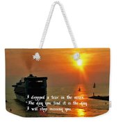 A Tear In The Ocean Weekender Tote Bag