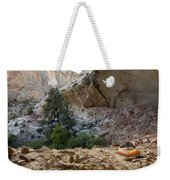 A Tent Pitched In A Large Alcove Weekender Tote Bag