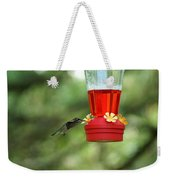 A Tiny Little Ruby-throated Hummingbirds Weekender Tote Bag