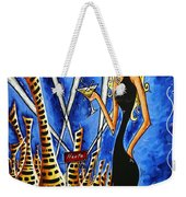 A Toast To The Little Black Dress By Madart Weekender Tote Bag