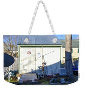 A Tool Shed In The Back Yard Weekender Tote Bag