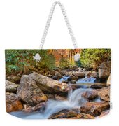A Touch Of Autumn At Skinny Dip Falls Weekender Tote Bag