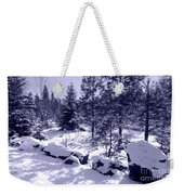 A Touch Of Snow In Lavender Weekender Tote Bag