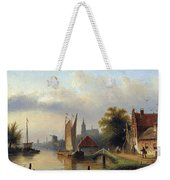 A Town By The River Weekender Tote Bag