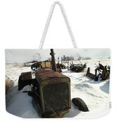 A Tractor In The Snow Weekender Tote Bag