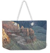A Trail Winds Its Way Down A Steep Weekender Tote Bag