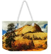 A Tree And Orange Hill Weekender Tote Bag