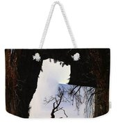 A Tree In A Square Abstract Weekender Tote Bag