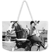 A Trickriding Cowgirl Weekender Tote Bag