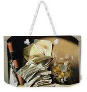 A Trompe Loeil Of Paper Money Coins Weekender Tote Bag