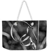 A Twist On Autumn In Black And White Weekender Tote Bag