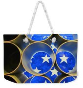 A Unique Perspective On The American Flag Weekender Tote Bag