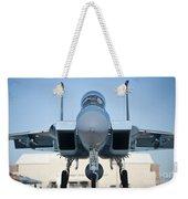 A U.s. Air Force F-15d Eagle Taxis Weekender Tote Bag