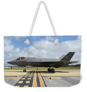 A U.s. Air Force F-35a Taxiing At Eglin Weekender Tote Bag