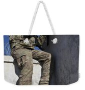 A U.s. Soldier Provides Security At An Weekender Tote Bag