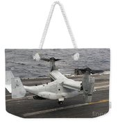 A V-22 Osprey Lands Aboard The Aircraft Weekender Tote Bag