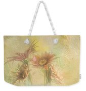 A Vase Of Gerbera Daisies In The Sun Weekender Tote Bag