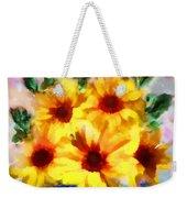 A Vase Of Sunflowers Weekender Tote Bag by Valerie Anne Kelly