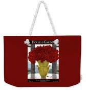 A Vase With Red Roses Weekender Tote Bag