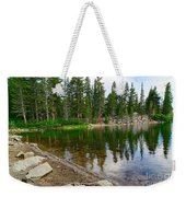 A Very Tranquil View Of Twin Lakes In Mammoth Lakes California Weekender Tote Bag by Jamie Pham