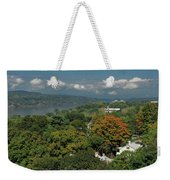 A View From The Hudson River Walkway Weekender Tote Bag