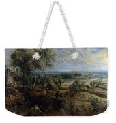 A View Of Het Steen In The Early Morning Weekender Tote Bag