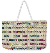 A View Of The Flags Weekender Tote Bag by Georgia Fowler