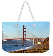 A View Of The Golden Gate Bridge From Baker's Beach  Weekender Tote Bag