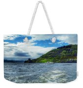 A View Of Urquhart Castle From Loch Ness Weekender Tote Bag
