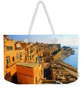 A View Of Valletta's Waterfront Weekender Tote Bag